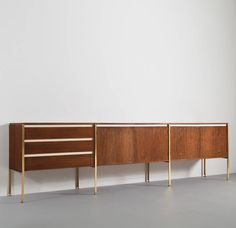 Kho Liang Ie and Wim Crouwel; Wenge, Brass and Formica Sideboard for Fristho, c1960.