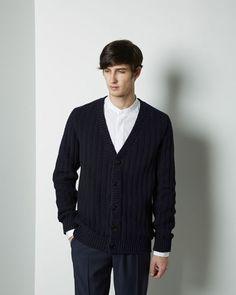 Maison Margiela Line 10 | Heavy Cable Knit Cardigan | La Garçonne