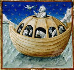 Noahs Ark (Detail) 15th C. Manuscript Illumination Newberry Library
