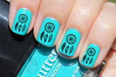 Hey, I found this really awesome Etsy listing at http://www.etsy.com/listing/150291995/dreamcatcher-nail-decals-36-ct