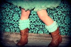 Lace Boot Toppers  - I'm getting these for myself!