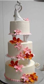 3 tier with simple colors to bring out elegance.