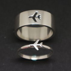 Plane Couple Promise Ring Set for Women - His and Her Ring for Woman, Alternativ. Plane Couple Promise Ring Set for Women – His and Her Ring for Woman, Alternativ… Plane Couple Engagement Ring Settings, Vintage Engagement Rings, Vintage Rings, Diamond Engagement Rings, Solitaire Engagement, Engagement Rings Couple, Solitaire Ring, His And Hers Rings, His And Hers Jewelry