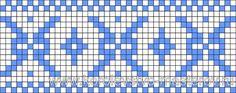 Схема для вязания жаккардового узора, схемы для вязания жаккардовых узоров, спицами Punto Fair Isle, Motif Fair Isle, Fair Isle Chart, Knitting Charts, Baby Knitting Patterns, Knitting Designs, Graph Crochet, Crochet Borders, Tablet Weaving Patterns