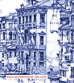 Hand drawing architectural drawings of romantic Venezia / Venice. These prints are available here http://www.architectural-ink.com/and you can also purchase this image on Zazzle products http://www.zazzle.com/architecture_ink