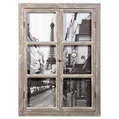 Cuadro ventana de madera 57 x 79cm PARIS