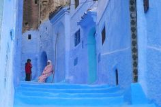 """Chefchaouen, Morocco """" The White and Blue City"""" Morocco Chefchaouen, Marrakech Morocco, Marrakesh, Kahlo Paintings, Vacation List, Artist Workshop, Kind Of Blue, Blue City, North Africa"""