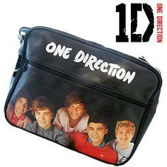 One Direction Deluxe Shoulder Bag - Black Design - http://herrentaschenkaufen.de/unbekannt/one-direction-deluxe-shoulder-bag-black-design