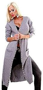 Eleganter Streetwear Maxi Longstrickmantel PEARL