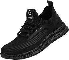 GUFANSI Chaussures de S/écurit/é Homme Femme Embout Acier Protection Confortable Baskets L/ég/ère Respirante Unisexes Respirables Chaussures de Travail