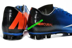3071bc72ff9 Nike Mercurial 2013 Cristiano Ronaldo Cleats Vapor 9 AG Boots - Royal Blue  Black White