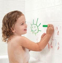 @munchkin bath crayons are a MUST for colder months. gotta draw out those bath times as long as possible!