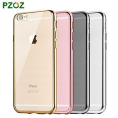 PZOZ For iPhone 6 Case Glitter Silicone Cover Original For  iphone 6 s plus Luxury Silm Protection Phone Soft Shell 4.7&5.5
