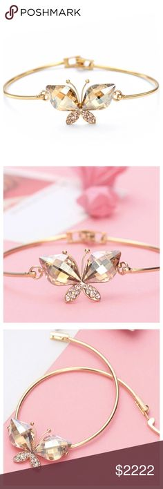 ‼️COMING SOON Swarovski Crystal Butterfly Bracelet ‼️PLEASE LIKE THIS LISTING TO BE NOTIFIED OF ARRIVAL‼️ Jewelry Bracelets