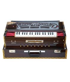 SG Musical Calcutta Harmonium No.6700tw, A440 Tuned, 13 Scale Changer, Folding, Teak Wood, Concert