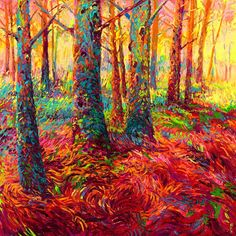 by Iris Scott | Redwoods, Oil painting | Art for Sale Online at UGallery