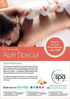 I Spa at Indigo Hotels: April Special – Pinda Massage. Tel: 202 4920