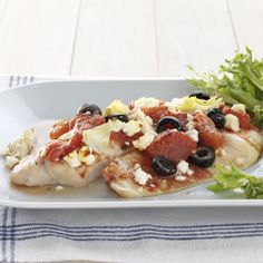 mediterranean tilapia - healthy cooking.  made it tonight - YUM!
