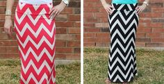 Super chic, and comfy Chevron Maxi Skirt in 3 colors! | Jane