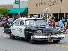 antique police vehicle