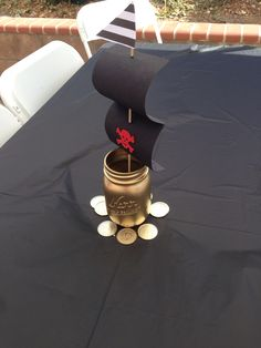 DIY centerpieces pirate