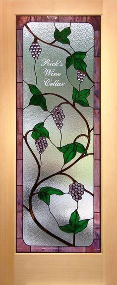 Wine Room Door Stained Glass
