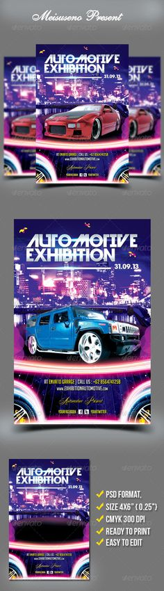 Classic Car Show flyer #2 Flyer template, Template and Cars - car flyer template