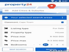 Property24.com  Android App - playslack.com ,  Download the Property24.com app and find your perfect home. Get all of South Africa's leading Estate Agent properties for sale and to rent on your phone or tablet. The intuitive interface makes searching for property quick, easy and fun with full-screen photographs and location-based searching to find property near your current location. KEY FEATURES: ★ Search for houses for sale and to rent in South Africa★ Instant access to the most accurate…