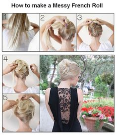 How to make a Messy French Roll.. I need to learn how to do things like this with all y hair!