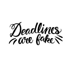 Deadlines Are Fake by Josh LaFayette Types Of Lettering, Brush Lettering, Lettering Design, Hand Lettering, Typography Love, Typography Letters, Letter I, Letter Logo, Feeling Let Down