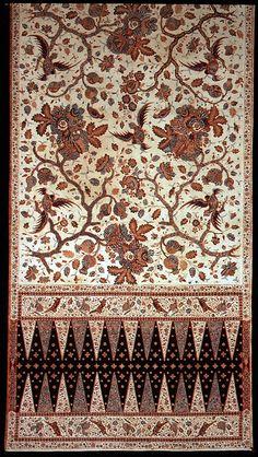 Java, sarong, cotton, batik, 19th c