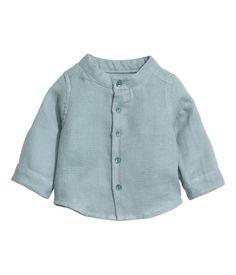 Double-weave Cotton Shirt | Light teal | Kids | H&M US