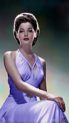 Colors for a Bygone Era: Young Ava Gardner, colorized from a late studio portrait Hollywood Icons, Old Hollywood Glamour, Golden Age Of Hollywood, Hollywood Celebrities, Vintage Hollywood, Hollywood Stars, Hollywood Actresses, Classic Hollywood, Actors & Actresses