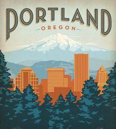 Portland, Oregon Print