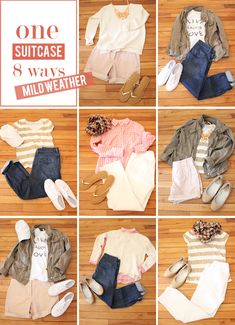 in residence: mix & match suitcase, mild-weather vacation edition