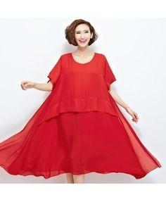 Plus size short sleeved midi dress A7220