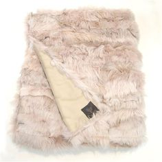 Wildash Small Shearling 110x200cm Throw, Light Taupe & Sandstone
