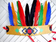 Quill feathers are perfect for making Native American Indian Headdresses with kids.
