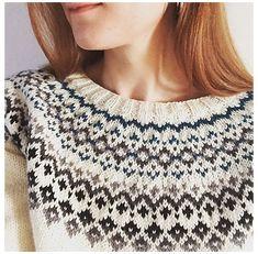 Punto Fair Isle, Motif Fair Isle, Fair Isle Pattern, Fair Isle Chart, Fair Isle Knitting Patterns, Sweater Knitting Patterns, Knitting Charts, Knitting Machine, Vintage Knitting