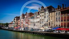 Looking across the River Nive in Bayonne, France