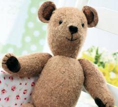 Stitched Vintage Teddy Bear Pattern
