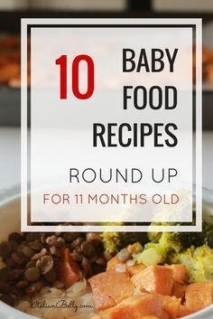 Baby Food Recipe Round Up for 11 Month Old Babies transitioning from textured food to adult-like food