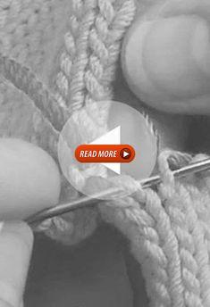 Couture invisible et plate pour un assemblage parfait, à l'aide d'une aiguille à bout rond et d'un fil d'une autre couleur. Baby Boy Knitting Patterns, Crochet Flower Patterns, Crochet Flowers, Free Knitting, Couture Invisible, Knit Vest Pattern, Sewing Courses, Patchwork Blanket, Assemblage