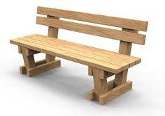 Resultado de imagen para banca madera jardin