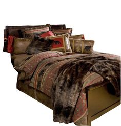 Rustic Bear Country Bed Set