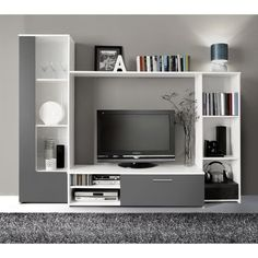 149.99 U20ac ❤ #FINLANDEK Meuble TV Mural PILVI 220cm Blanc Et Gris ➡ Https