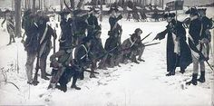 Baron von Steuben drilling Washington's army at Valley Forge. Source: Library of Congress