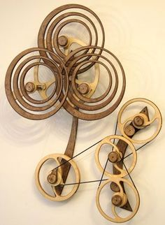 Kinetic Sculpture by David C. Roy - All Sculptures | Wood That Works | Kinetic Art - Summer Rain