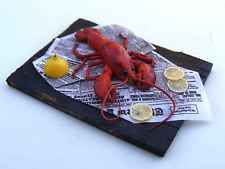 Lobster - Miniature in 1:12 by Erzsébet Bodzás, IGMA Artisan