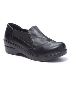 Look at this Black Stretch Dannis Clog by Lady Godiva Lady Godiva, Clogs Shoes, Wedge Heels, Stretches, Loafers, Slip On, Pairs, Sneakers, Casual